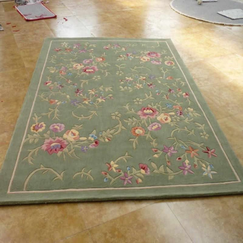 Achetez en gros chambre coucher tapis vert en ligne for Moquette pure laine