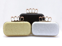 Free shipping The new yarn mill grain sequins clutch evening bag lady