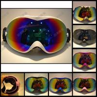 Free Shipping POLISI Dual Lens Unisex Snowboard Ski Goggle AntiFog UV400 Protection CE Spherical Mirror Snow Myopia Glasses P26