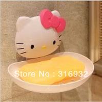 P2 Hello kitty creative soap holder box water soap care tray