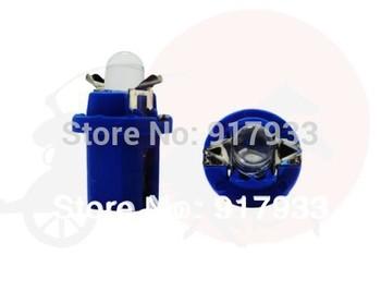 10pcs/lot LED T5 B8.5D 2721 286 WHITE INTERIOR DOME 12V-14V LIGHT BULB/LAMP/BULBS 5050 SMD Twist Lock white red blue