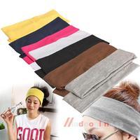 Sporty Yoga Dance Biker Wide Headband Hood Stretch Ribbon Hairband Elastic  M3AO