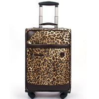 Paul bags trolley luggage travel bag luggage suitcase barrels fashion leopard print luggage