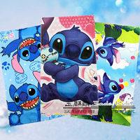 Stitch towel single face print cartoon pop child 100% cotton pillow covers male girls