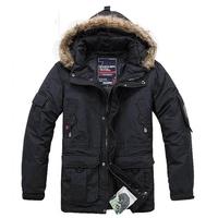 Hot selling black army green Men's goose down jacket coat goose leather down jacket waterproof M,L,XL,XXL,XXXL,XXXXL
