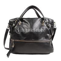 Free Shipping Fashion Women PU Leather Rivet Fringed Handbag Big Shoulder Bag