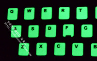 2 ! letter backlit keyboard film computer general keyboard computer stickers super bright
