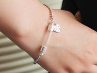 Glass Vial Bracelets (6MM Curve Vial,Preglued silver-plated screw caps)   Vampire vials pendants  Name On Rice Vial Jewelry