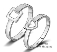 Потребительские товары GPR225 Platinum White Gold Plated Engagement Rings For Men Women 2013 Fashion Jewelry Sets
