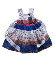 2014 Hot Design Branded Kids Boutique Clothing High Quality 100%Cotton Girls Beautiful Rose Flower Birthday Evening Dress dress