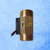 """USC-HS21TI brass body hall effect water flow sensor 1-30L/min male G1/2"""" DN15mm 44mm in total"""