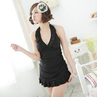 Mm swimwear cloth one-piece dress plus size female swimwear large swimwear