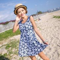Mm hot spring swimwear plus size oversized swimwear large female dress one-piece swimsuit