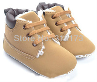 FREE SHIPPING----baby boy winter thicken shoes baby first walkers warm foot wear soft sole shoes kid skidproof prewalker 1pair