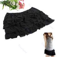 Women Girls Sweet Net Lace Cake Shaqun Skirt Short Black Free Shipping