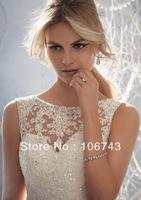 free shipping 2014 new style ballgown sexy lace bride dress sweet princess Custom plus wedding gowns wedding dress debutante