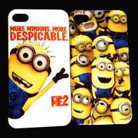 Cartoon Despicable Me Hard Case for iPhone5 5G+Gift Screen Protector free shipping