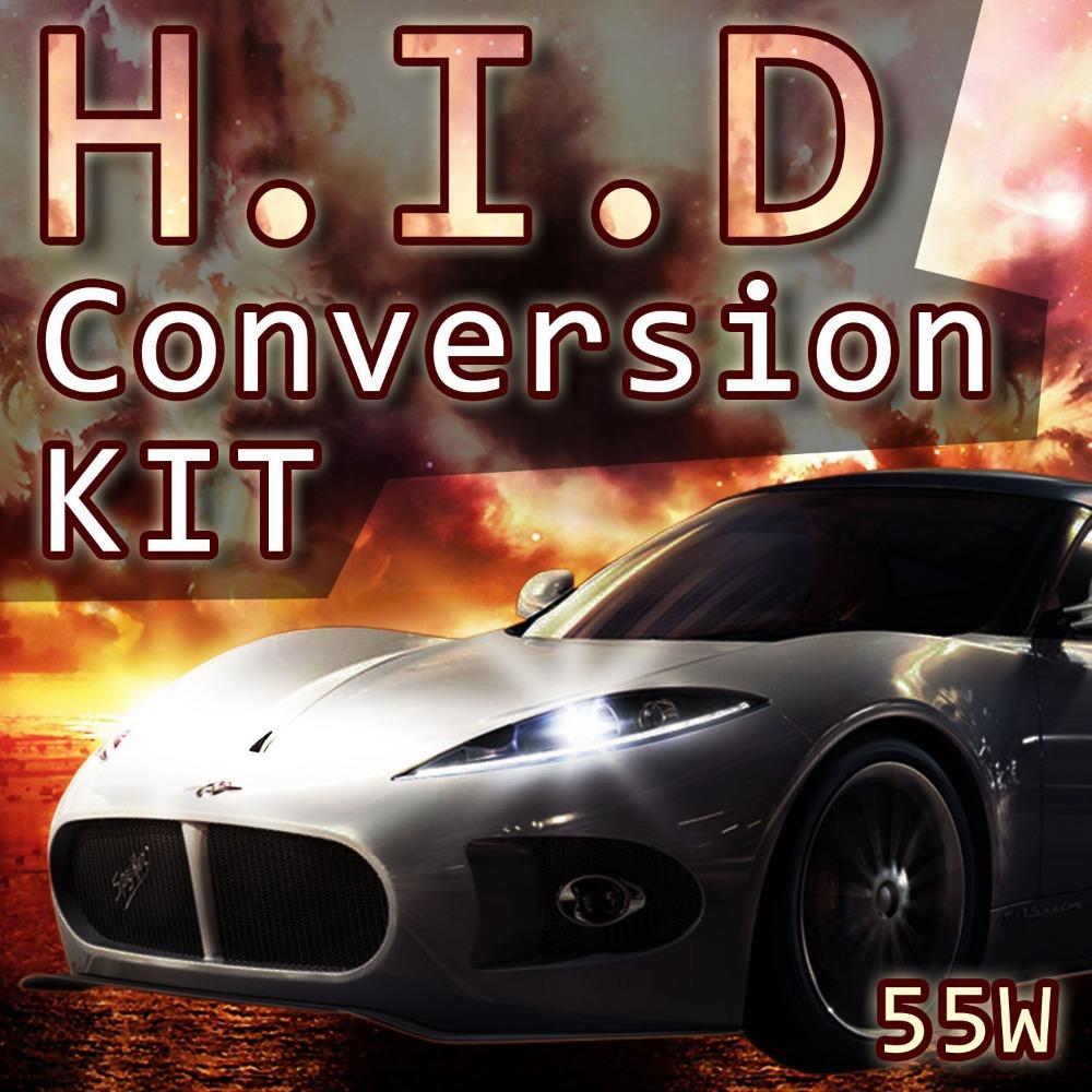 55W H1 DC HID Replacement Slim Ballast LOW BEAM Headlight Kit 6000k Cold White(China (Mainland))