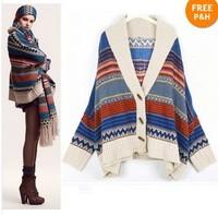Vintage Angora Woman Stripe Sweater Knitwear 8 to 12 free shipping