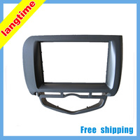 Free shipping-car refitting dvd frame/dvd panel/audio frame for 2006 Honda FIT/Jazz (Aircon auto, left )