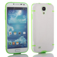 For Samsung Galaxy S4 TPU PC Plastic Glow in dark Hard Case for Samsung Galaxy S4 SIV I9500 free shipping