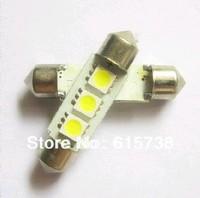 10PCS 36mm 5050 3 SMD  (31mm /39mm / 41mm)  Car Auto Interior Light bulbs White Festoon Dome light dome lamp led