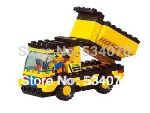 small heavy duty truck dump truck child educational assembling building blocks toy boy toy()