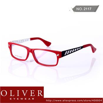 Free Shipping!2013 Fashion Eyeglasses Men or Women Acetate + Stainless Steel Patchwork Optical Frame Eyewear Brand 2117