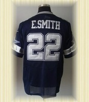 Arrived New Dallas Football jerseys embroidery logo 22 Emmitt Smith Blue White Elite jerseys embroidery logo