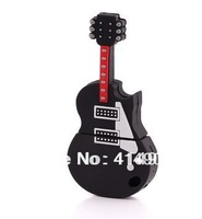 Wholesale 1pc/lot guitar usb flesh guitar hero real plastic usb flash drive pvc external storage pen drive 32gb
