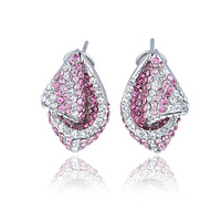 Whosale free shipping EEL 2012 new arrival austria crystal earrings female short design the danube river