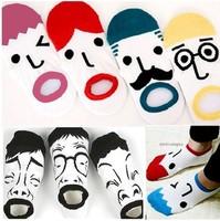 free  shipping  14pcs/lot  Cartoon expression MoChuan cotton socks  couples socks