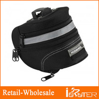 Updated ! Hot Sale Bicycle Bike Cycling Saddle Outdoor Pouch Back Seat Bag Basket,Racing Small Saddle Bag Black