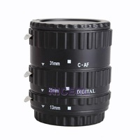 NI5L Metal AF Auto Focus Macro Extension Tube Set for Canon SLR Cameras Black