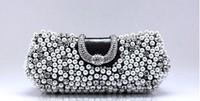 SH-77917 Elegant Diamond And pearl Encrusted Cluth Handbag Wedding Bag Party Bag