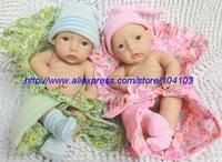 "12""baby dolls silicone vinly christmas Reborn babies dolls lovely toy twins Gifts 12NPK6576Q&6577Q"
