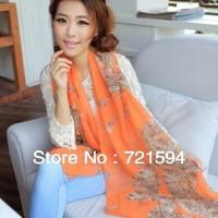 Free shipping 2013 New Fashion Leopard Print Scarf Shawls Long Scarves/Scarf  For Women/Hijab/shawl