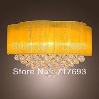 Clearance!Modern Iron Chrome 9-light Crystal Ceiling Light