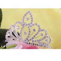 2013 New Free Shipping 6pcs/lot Fashion Mini Rhinestone Tiara Cute Children Crown Wedding Hair Accessories For Woman