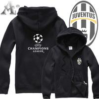 2013 premier league champions league football real madrid juventus zipper-up sweatshirt outerwear male