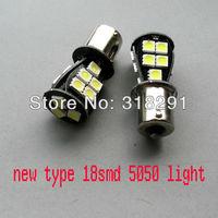 Free shipping NEW TYPE T20/7440 W21W 18SMD -5050 LED car bulb turn signal light 1156 ba15s car light 50pcs/lot