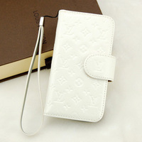 Luxuy Genuine Leather Flip Case Cover for iPhone 5 Quality Patent Leather Case Free Shipping