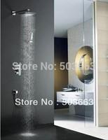 """Wholesale 8"""" Bathroom Rainfall Shower head+ Arm Hand Spray Valve Faucet Set S-658"""