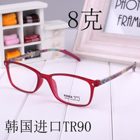 Ultrafine tr90 mirror ultra-light glasses multicolour print eyeglasses frame