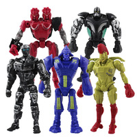 5x Real Steel Atom Midas Noisey Boy Zeus 13cm PVC Action Figure Set