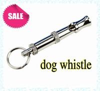 100pcs/lot High quality Pet Training Adjustable Ultrasonic Sound Key chain Dog Whistle HO061