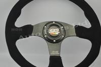 MG Racing Sport Suede Leather Drifting Steering Wheel
