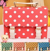 women's handbag shaping dot polka dot color block bag handbag cross-body bag women's bag
