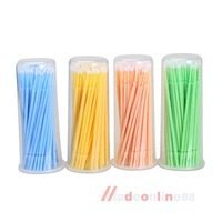 100Pcs One-off Micro Brushes Swab Applicator for Eyelash Extension Removal  M3AO