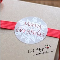 SS042 Merry Christmas Words Seal Stickers  for Scrapbooking/Gift Packing/Xmas Decorations/Cake Accessory 300Pcs/Lot